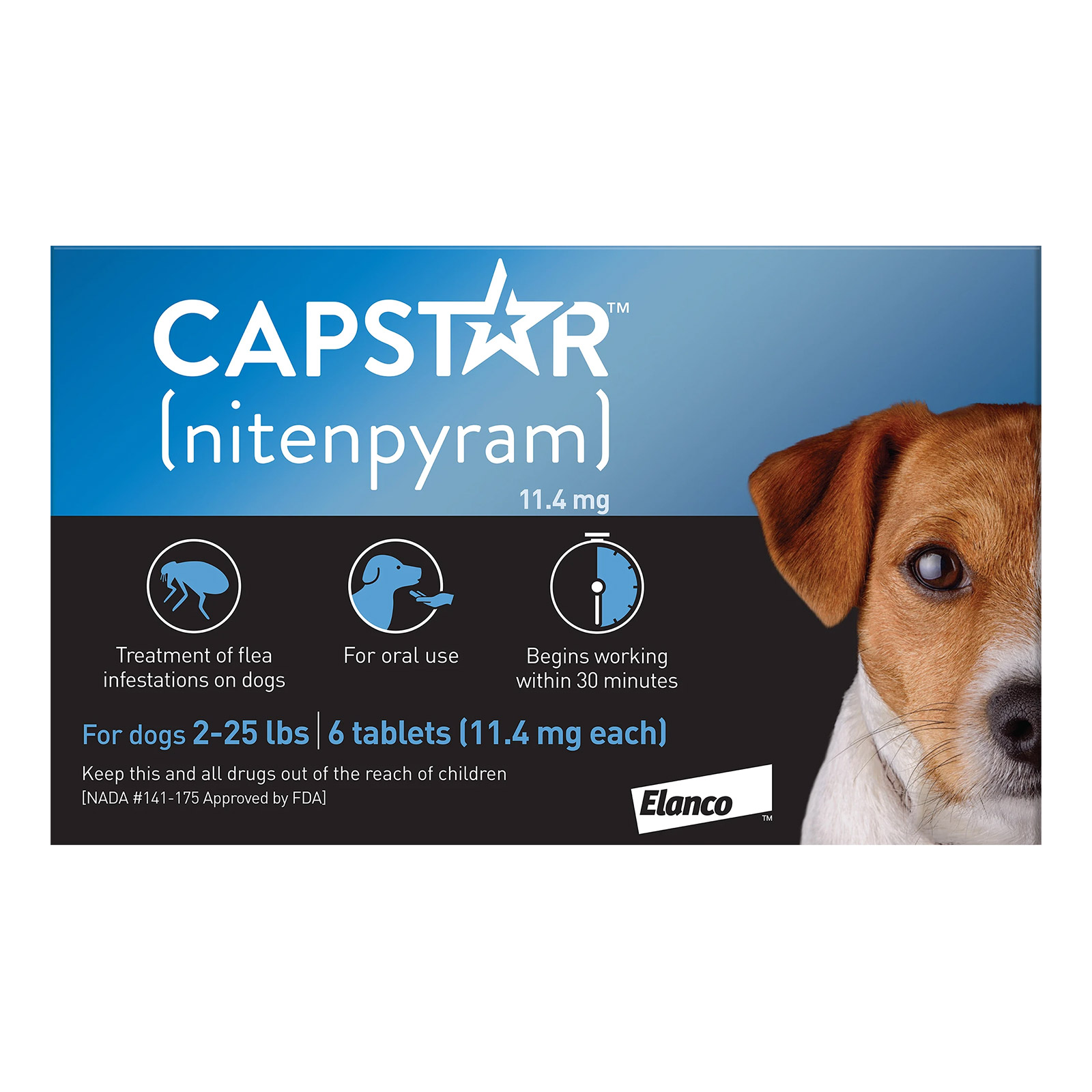 Capstar Blue for Cats and Small Dogs 2 - 25 lbs 6 TABLET