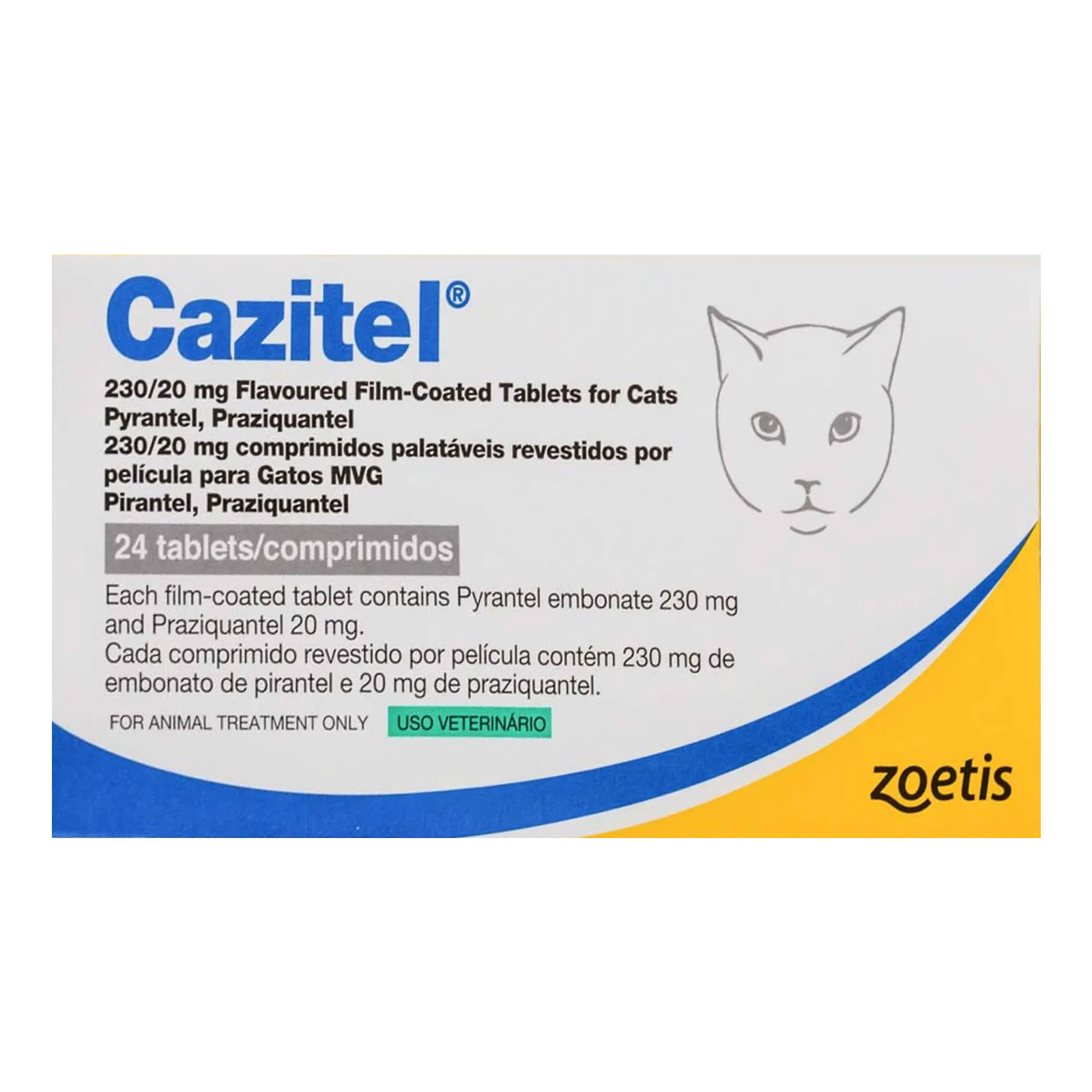 Cazitel tablets for cats are for the treatment and prevention of roundworms and tapeworms in cats. Buy now at best price and free shipping from BudgetPetCare.com