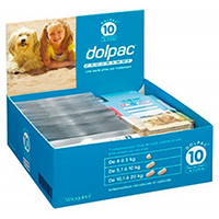 Dolpac is a broad spectrum anthelmintic for dogs that assists in protecting your dog against tapeworms, roundworms and whipworms. This oral treatment needs to be given every three months. Buy from BudgetPetCare.com for the best price and free shipping on all orders.