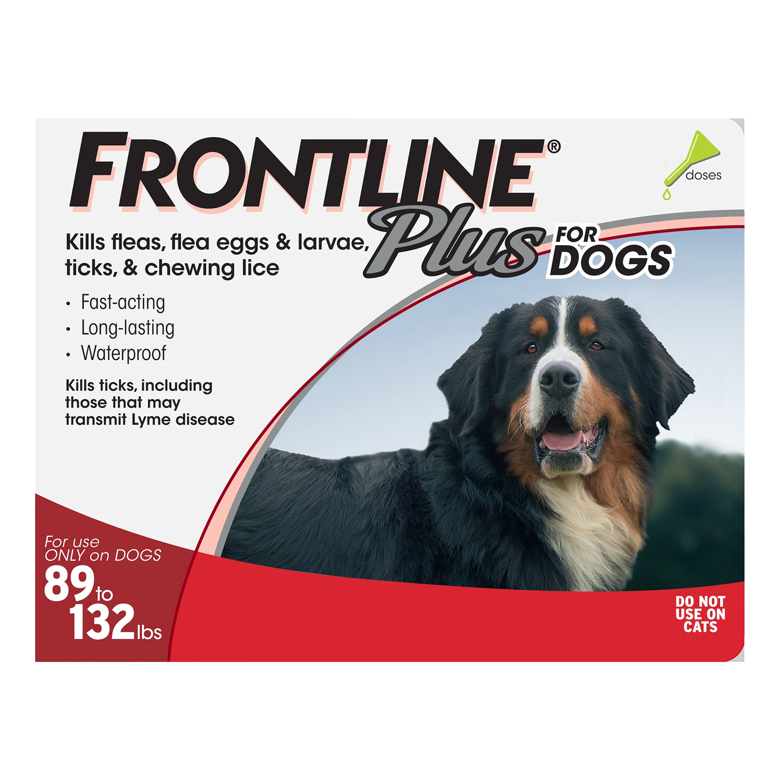 Frontline Plus for Extra Large Dogs over 89 lbs (Red) 6 MONTHS