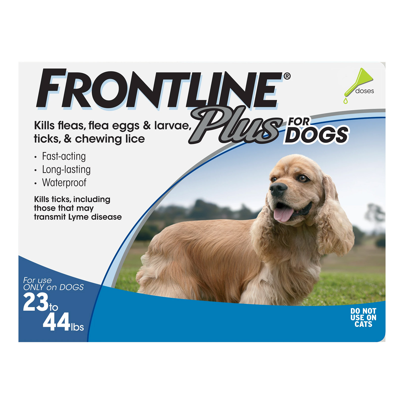 frontline plus for medium dogs 23-44 lbs (blue)  6 months on lovemypets.com