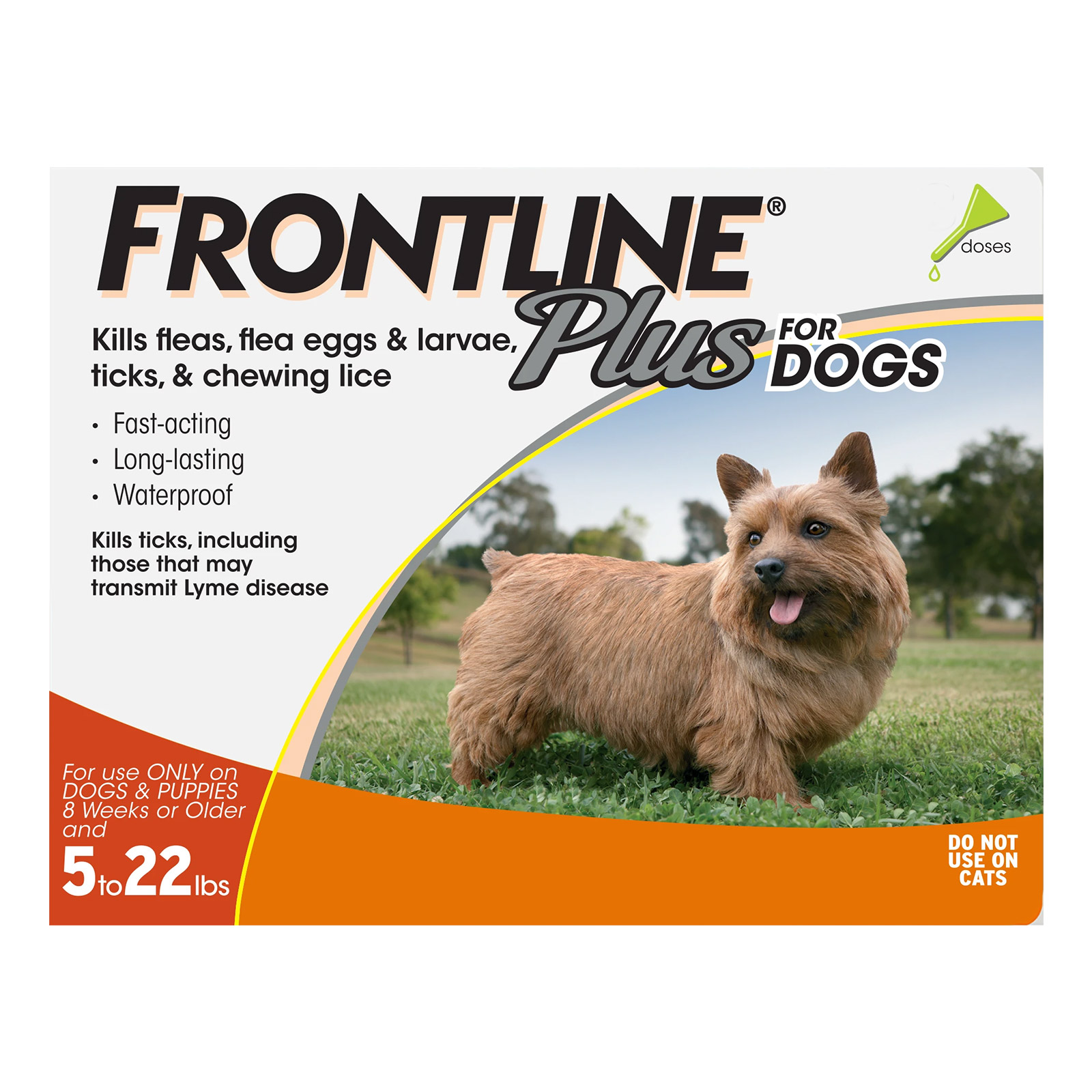 frontline plus for small dogs up to 22lbs (orange)  3 months on lovemypets.com