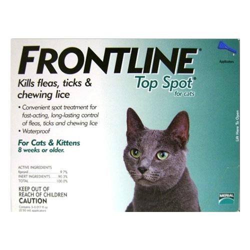 Frontline Top Spot Cats Green 3 MONTHS