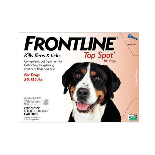 Image of Frontline Top Spot Extra Large Dogs 89-132lbs (Red) 4 + 4 FREE