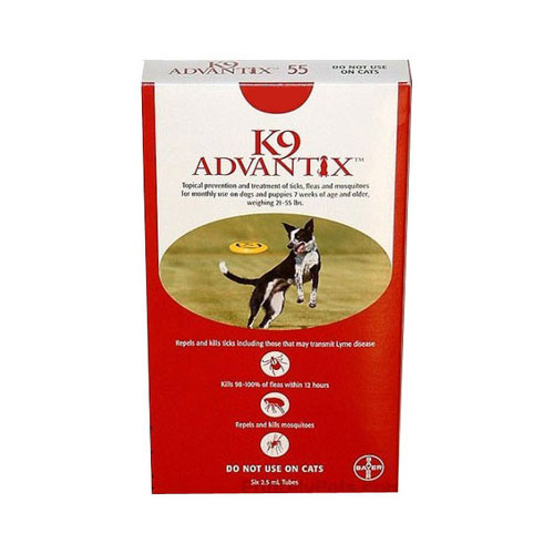 K9 Advantix Large Dogs 21-55 Lbs (red) 6 + 2 Free