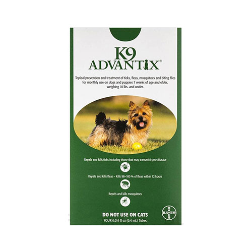 INOpets.com Anything for Pets Parents & Their Pets K9 Advantix Small Dogs/Pups 1-10 lbs (Green) 6 + 2 FREE