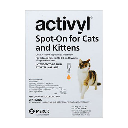 Activyl Flea Control Spot-on For Small Cats 2-9 Lbs Orange 4 Pack