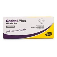 Cazitel Plus for Dogs are highly palatable pork flavored worming tablets that has been specifically designed for dogs to treat commonly found intestinal worms including: roundworms, hookworms, tapeworms and whipworms.