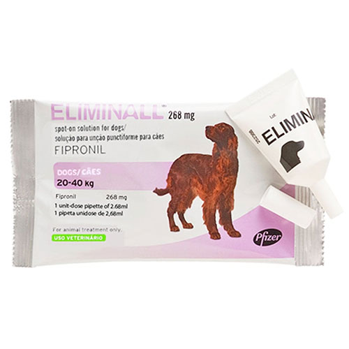 Eliminall Spot On Dogs is for the treatment and prevention of flea and tick infestations in dogs. Fleas will be killed within 24 hours. Buy Eliminall Spot-On For Dogs is for the treatment and prevention of fleas, ticks and lice infestations on dogs