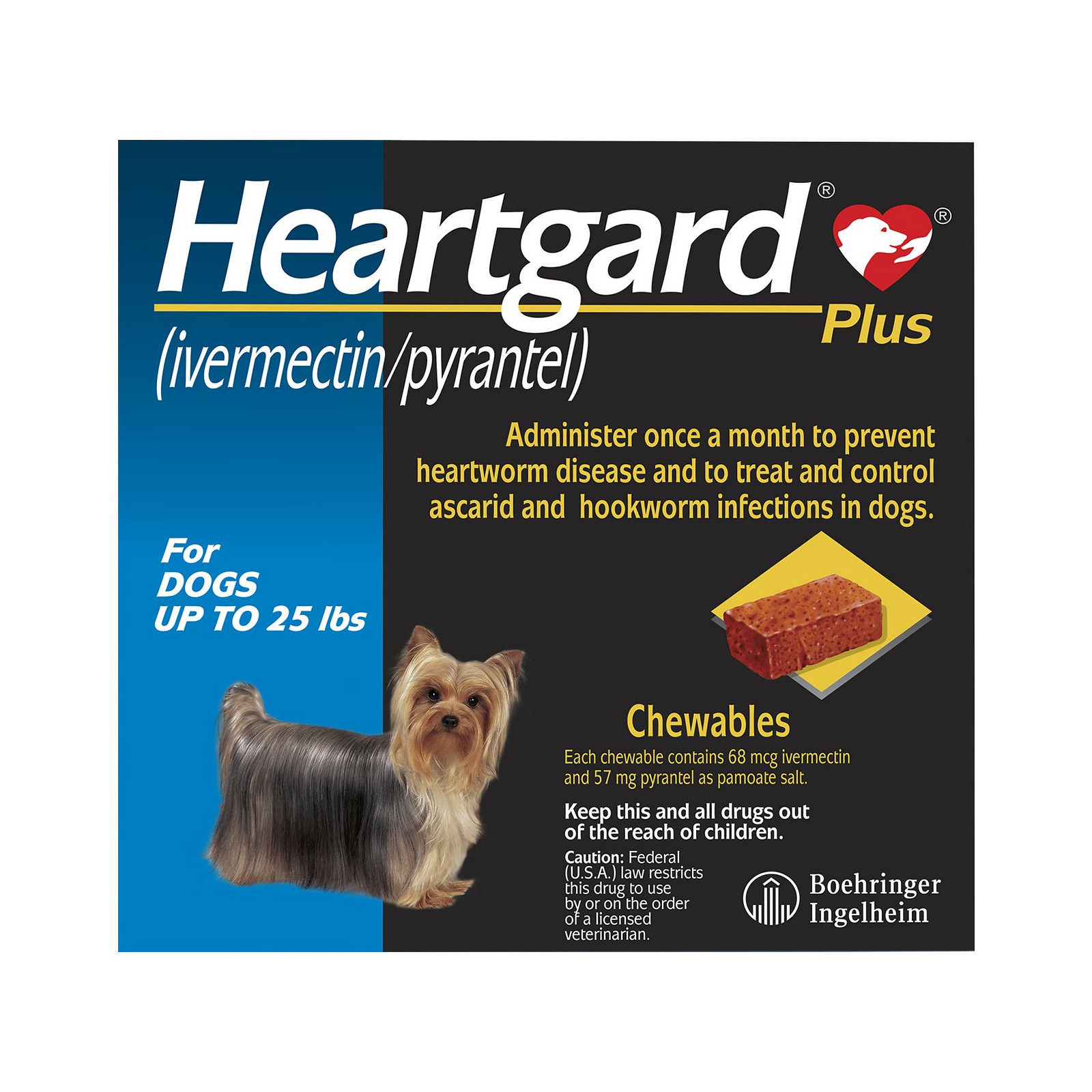 Heartgard plus chewables small dogs up to 25lbs blue