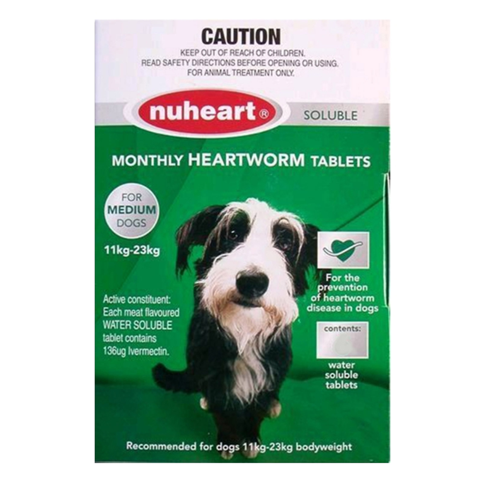 INOpets.com Anything for Pets Parents & Their Pets Heartgard Plus Generic Nuheart Medium Dogs 26-50lbs (Green) 6 TABLET
