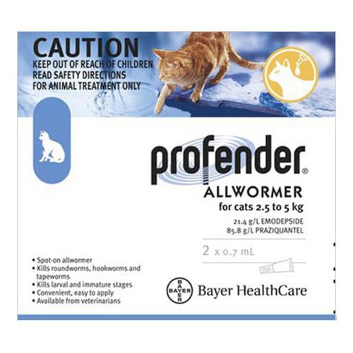 Profender Medium Cats (0.70 ml) 5.5-11 lbs 2 DOSES