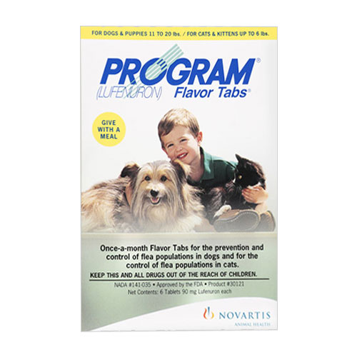 Program Flavour Tabs For Dogs 11 242lbs Green 6 TABLET