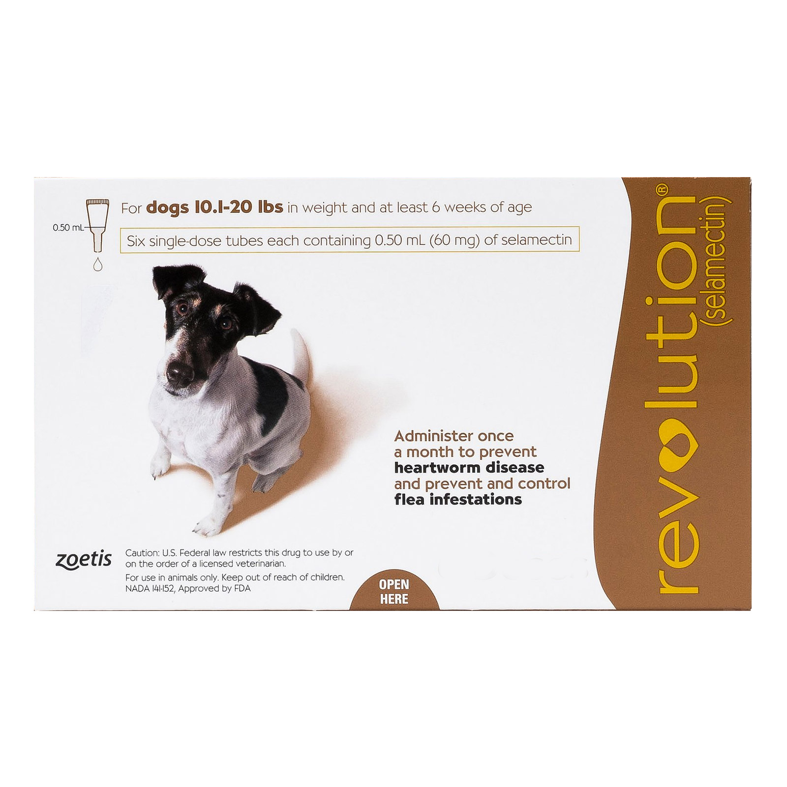 Revolution for small dogs 10 1 20lbs brown