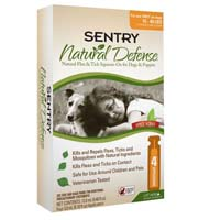 Sentry Natural Defense for Dogs For Dogs 1540lbs 4 TUBE