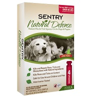 Sentry Natural Defense for Dogs For Dogs above 40lbs 8 TUBE