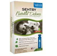 Sentry Natural Defense for Dogs For Small Dogs up to 15lbs 8 TUBE