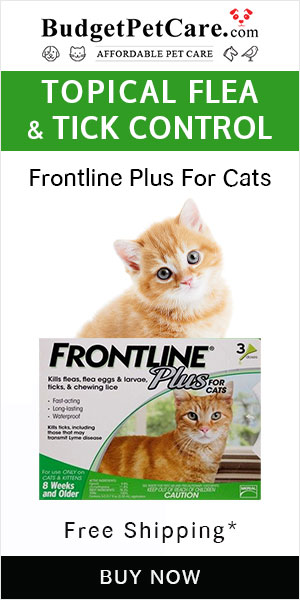 Don't forgets our 12% off Flea and Tick sale on Frontline Plus Cats. Avail Free Doses. Free Shipping!  Use Coupon: BIGDEAL
